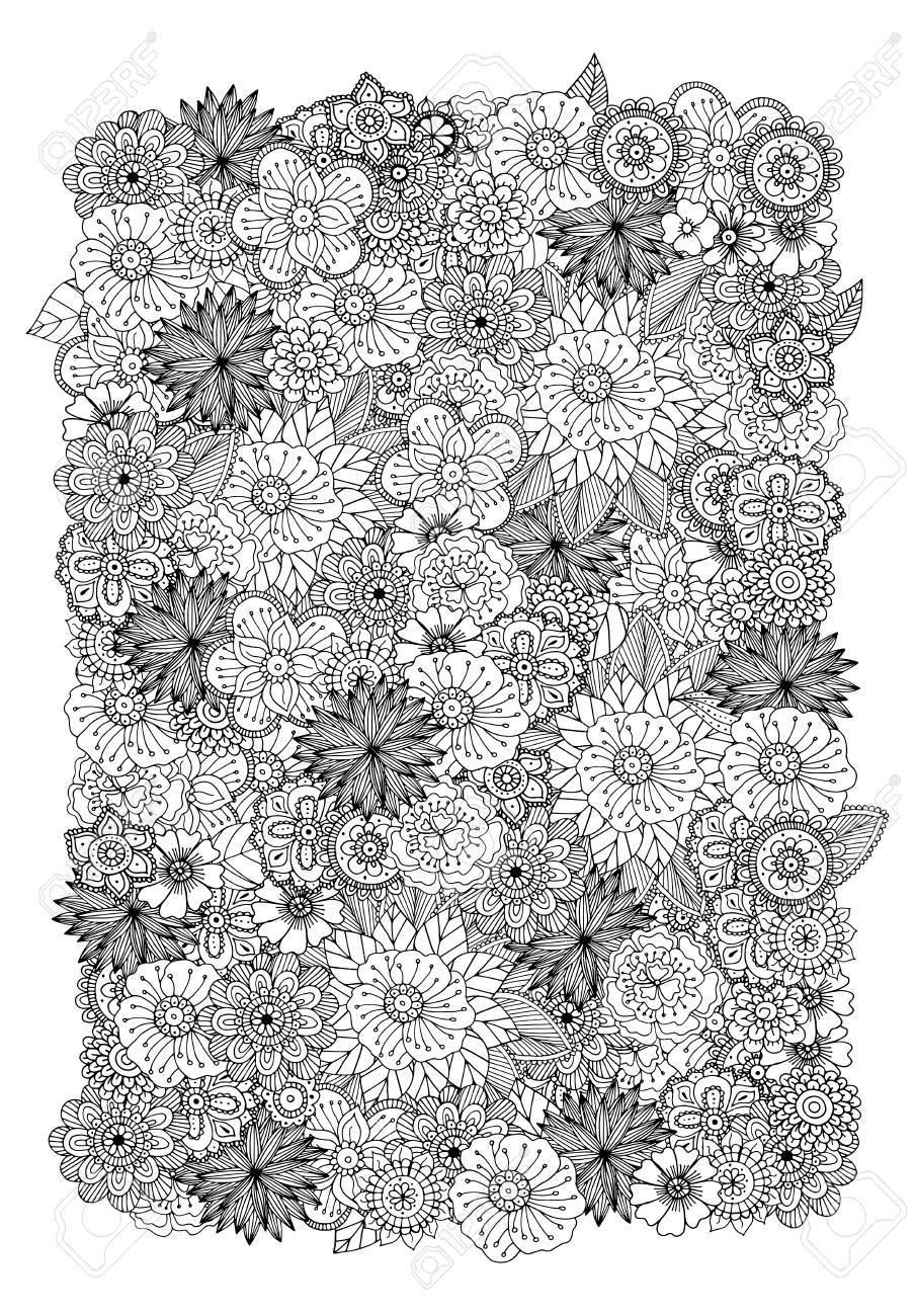 Dibujado A Mano Ilustración Del Doodle Del Zentangle De Libros Para ...