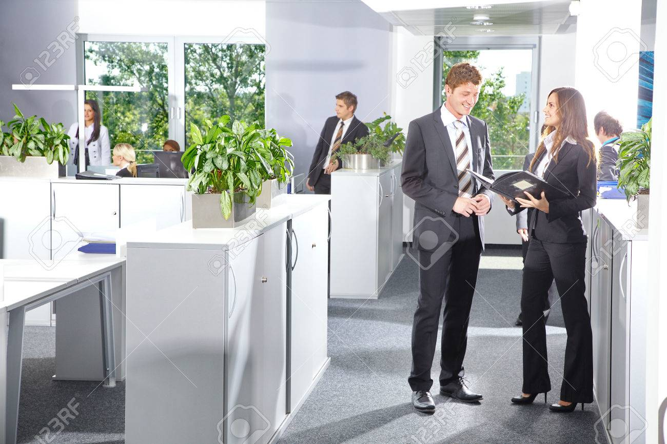 stock photo beautiful bright office with flowers and peoples beautiful bright office