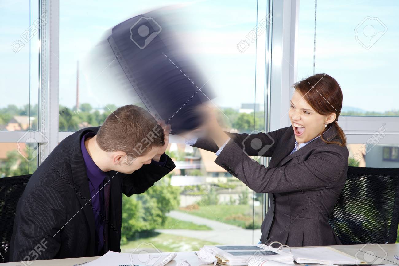 Business Situation in Office with woman and man - 32052279