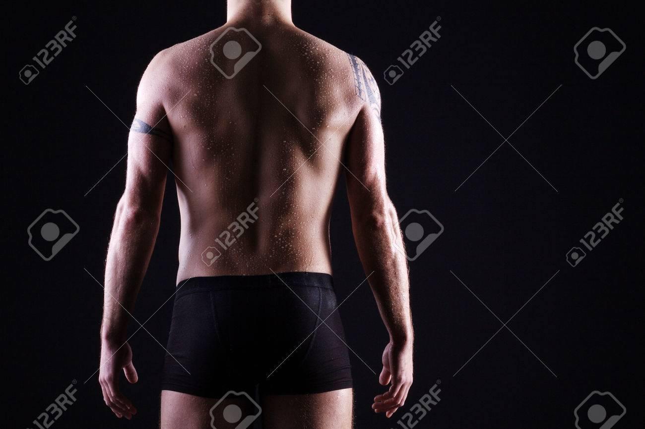 beautiful man rear body Standard-Bild - 32047712