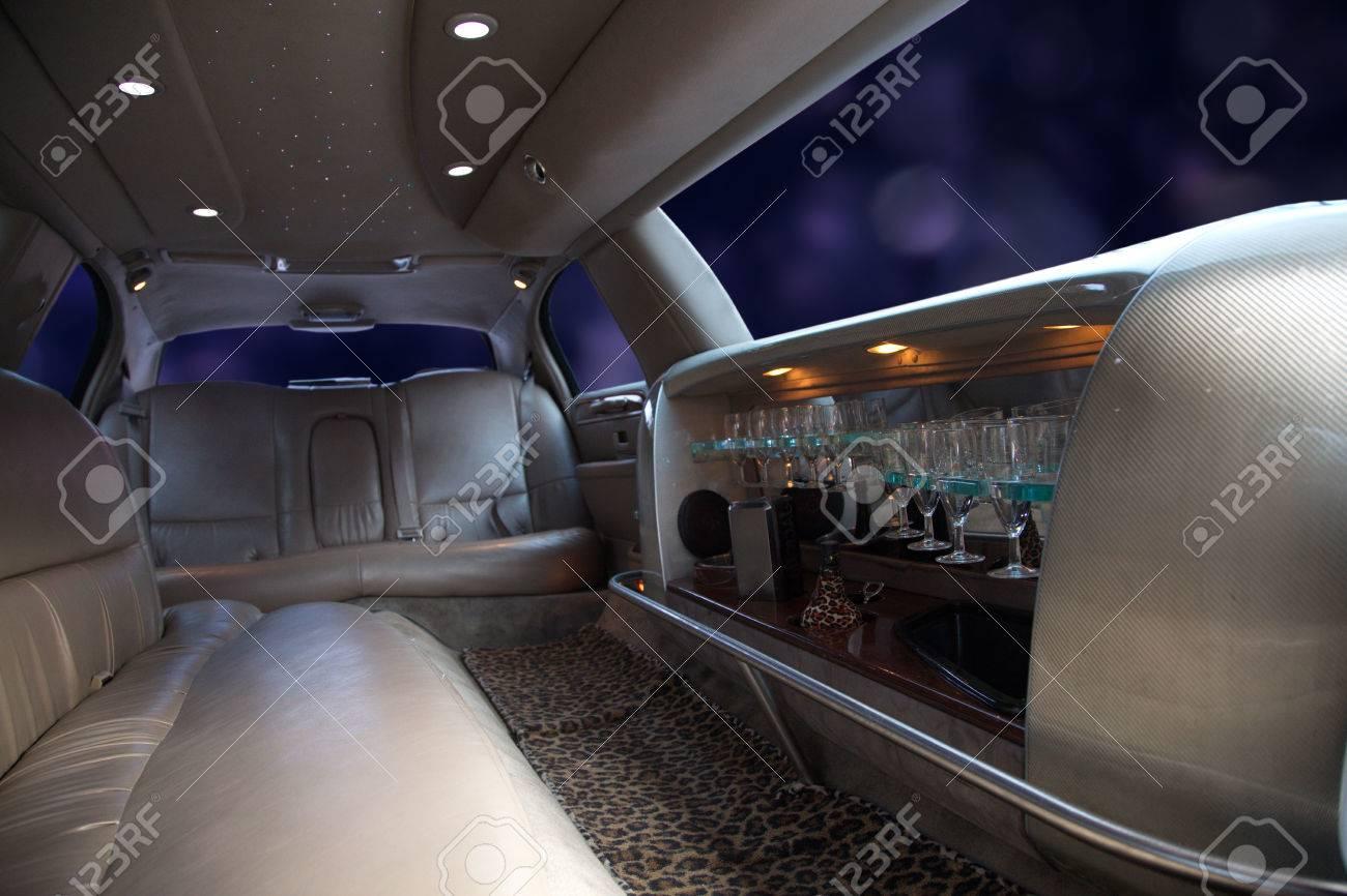 strech limousine with Interior furnishing Standard-Bild - 31587964