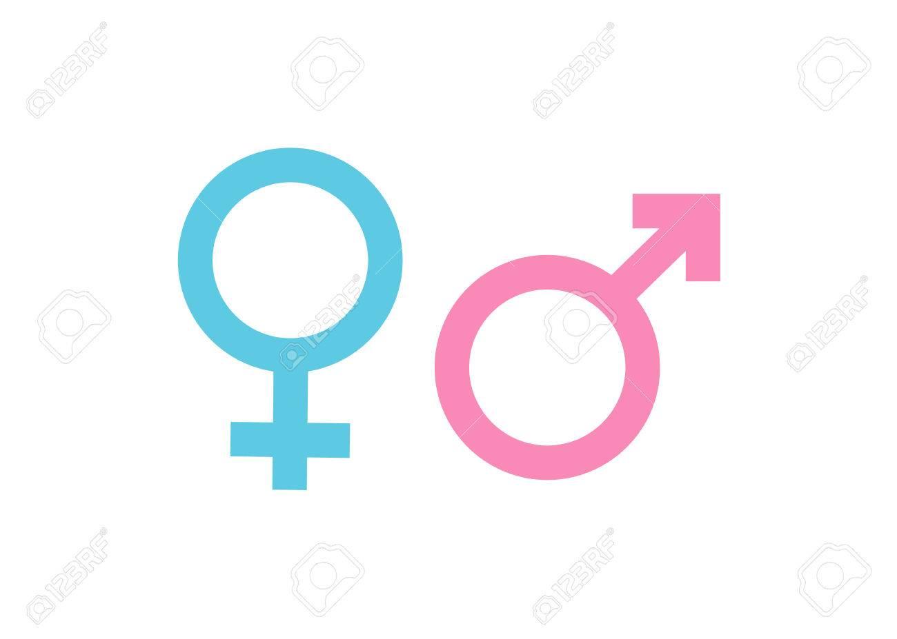 Símbolo De Género Hombre Y Mujer Ilustraciones Vectoriales Clip Art