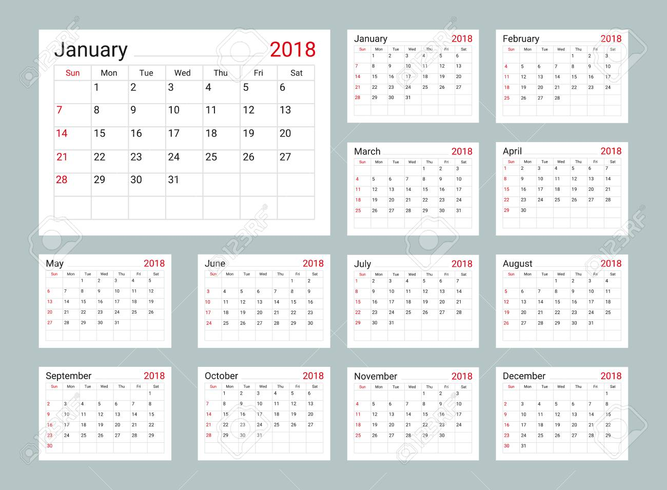 daily calendar 2018 template