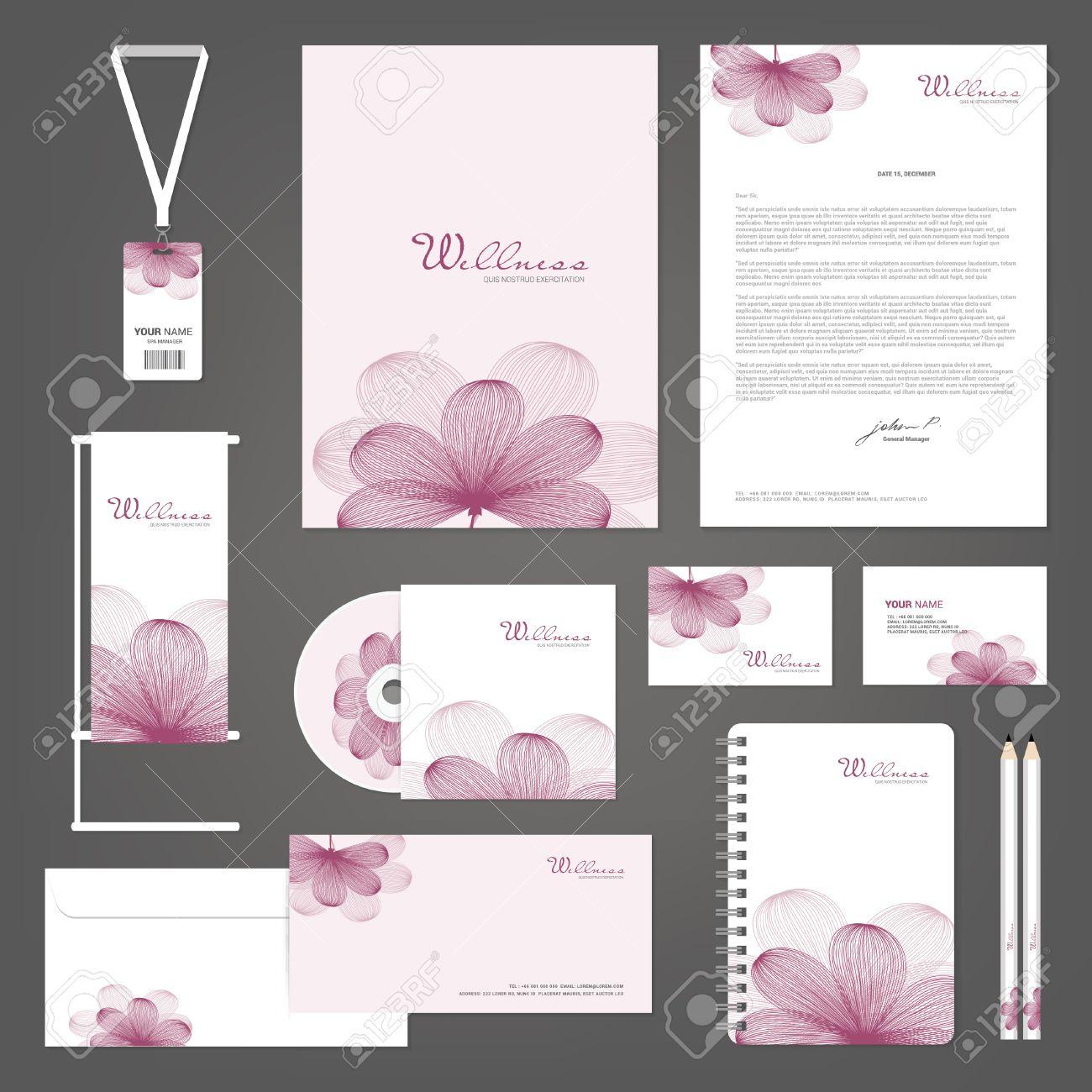 Fabuleux Modèles D'identité D'entreprise, Spa Yoga Fleur D'Orchidée, Cartes  UC21
