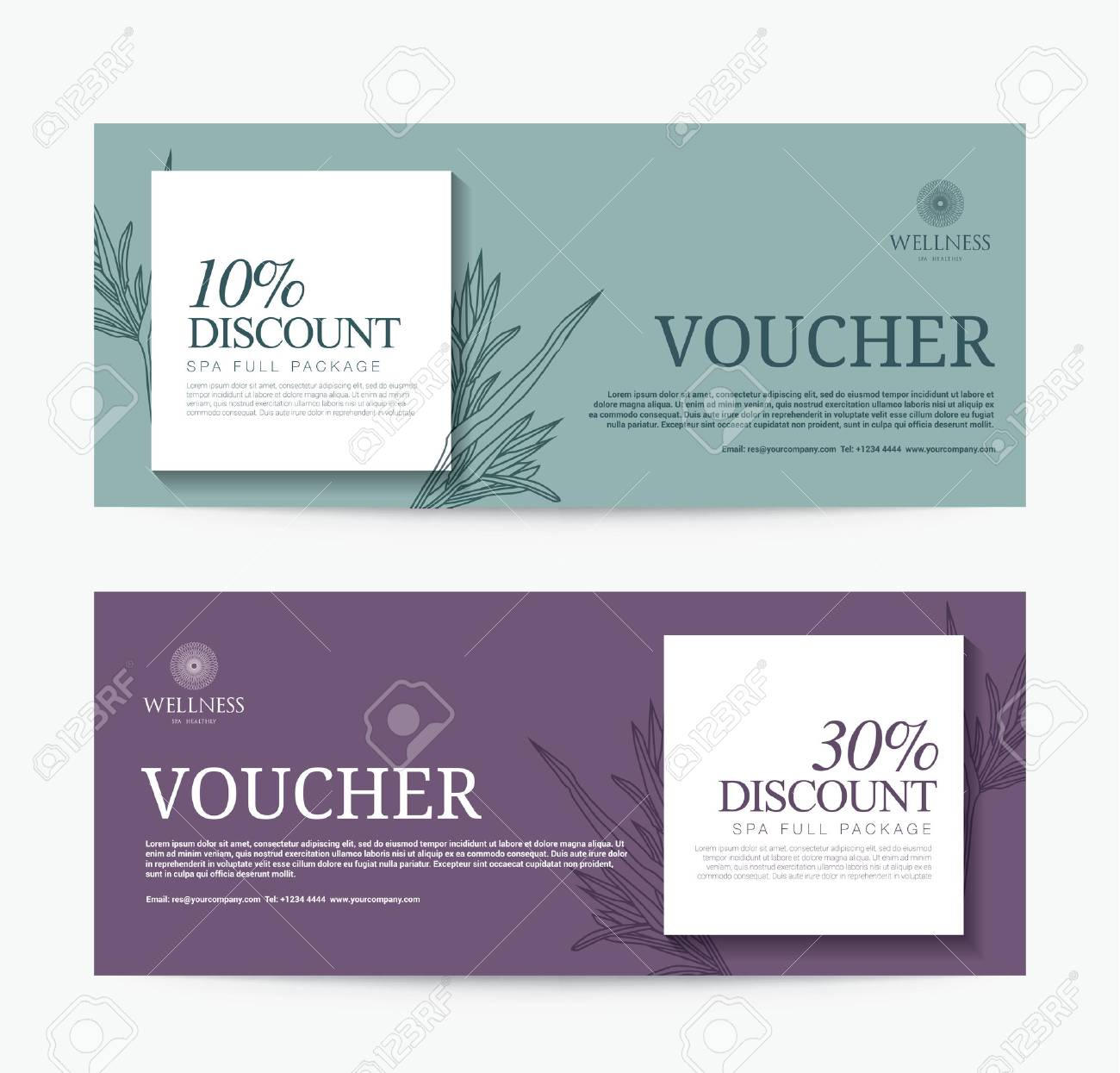 Gift Voucher Template For Spa, Hotel Resort, Modern Design ...