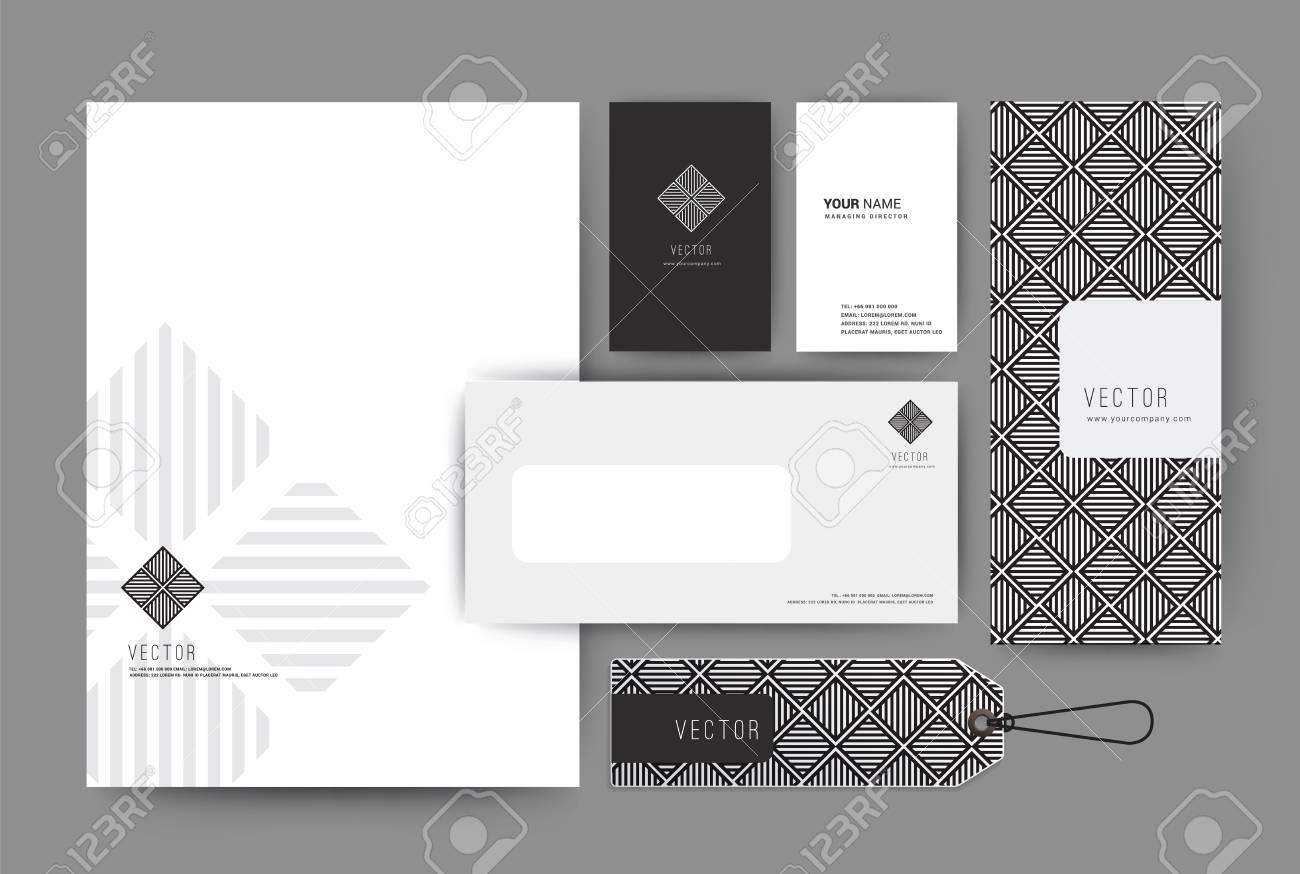 Branding-Identity-Vorlage Corporate Firma Design, Set Für Business ...