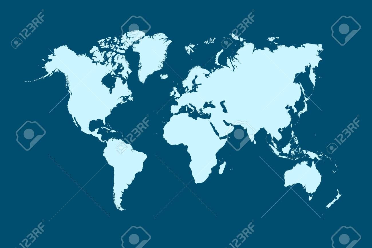 World map color vector modern - 148950237