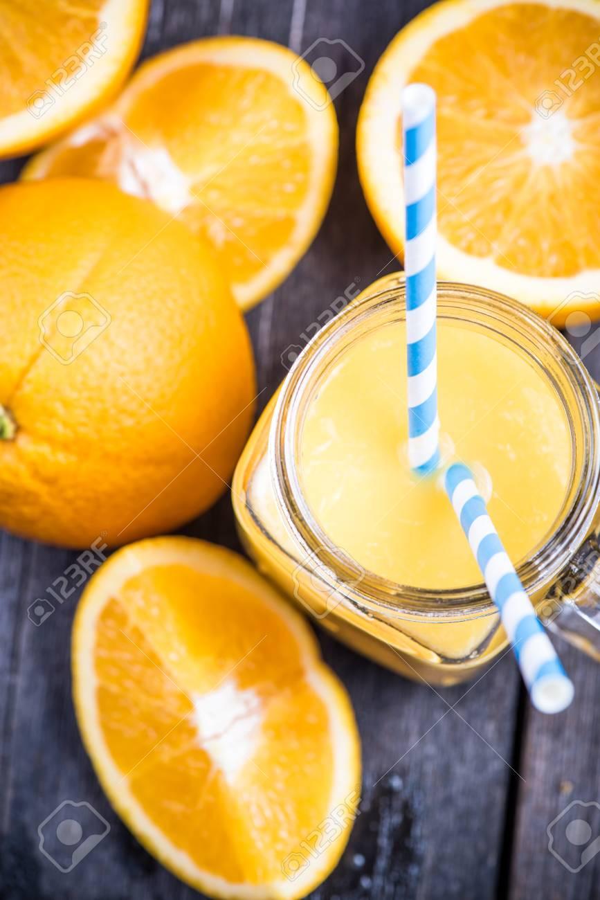 Maison Jus D Orange Fraichement Presse En Bocal Banque D Images Et