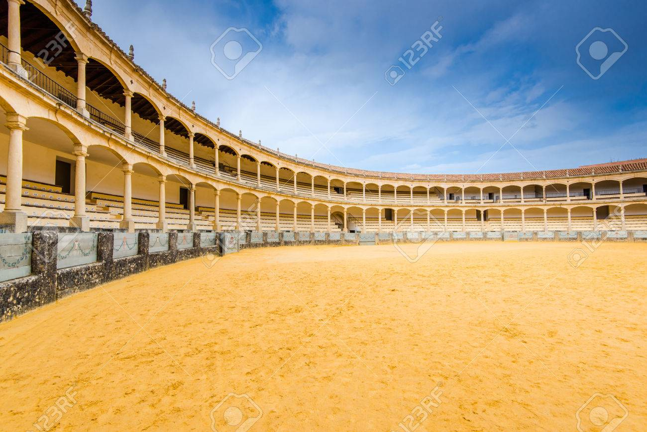 Bullring in Ronda, one of the oldest and most famous bullfighting