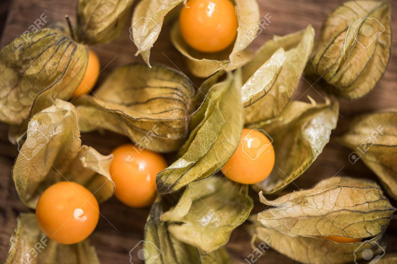 Physalis fruits close up view from above. - 88445989