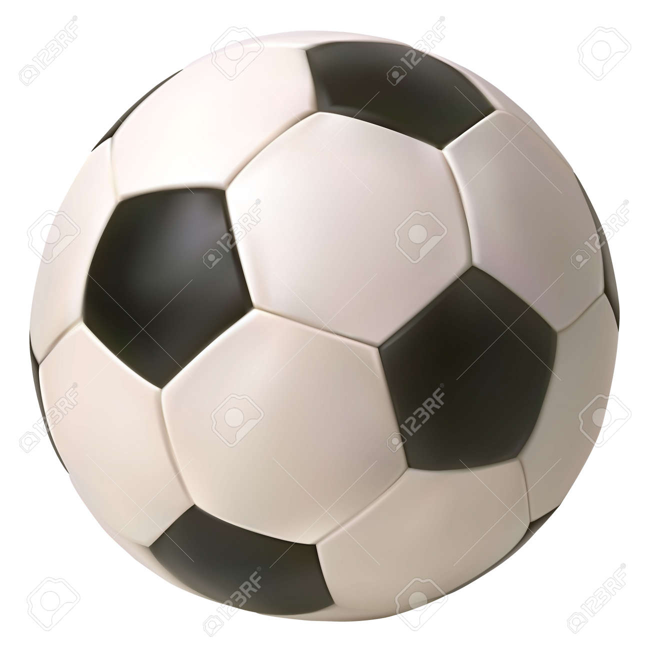 Realistic vector soccer ball. Isolated in white background. - 148533839