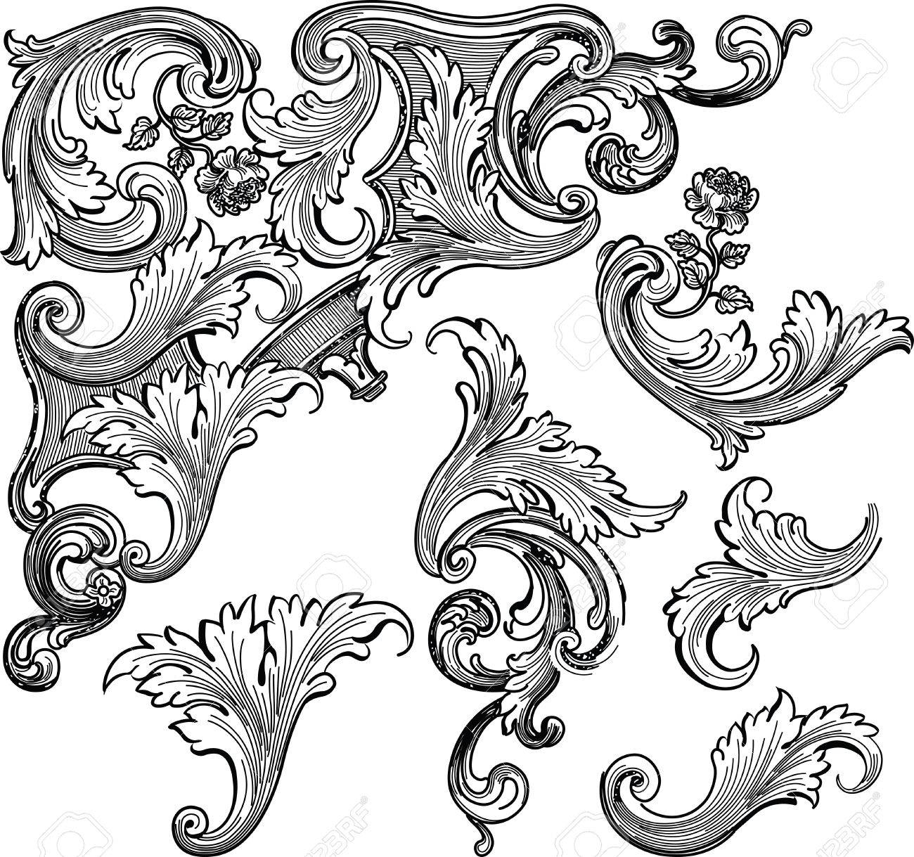 floral design elements Stock Vector - 2432784