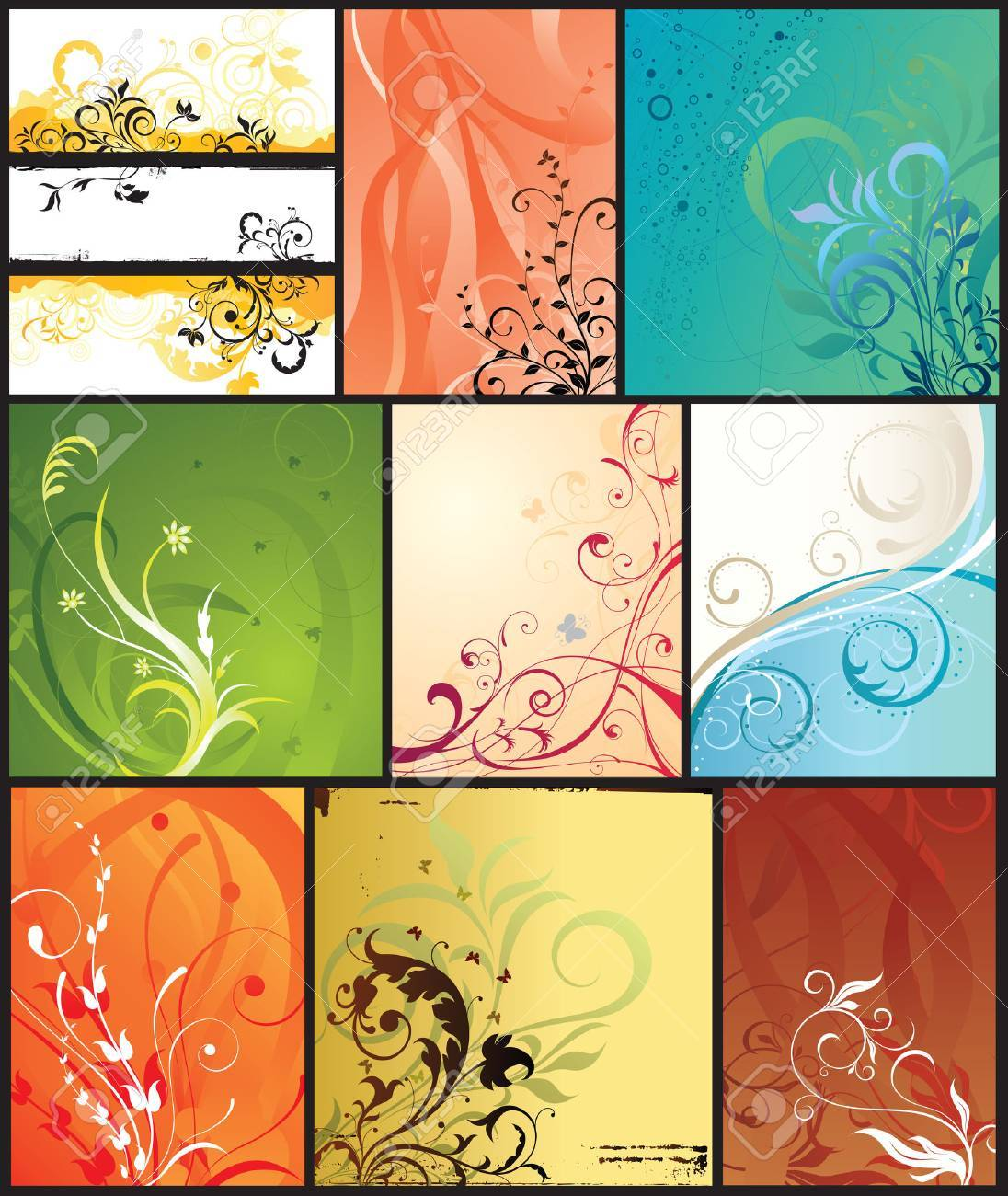 seasonal design backgrounds Stock Vector - 2505435