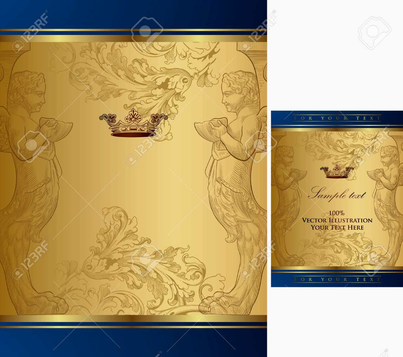 Elegant royal frame with crown vector colourbox - Jpg 1300x1153 Royal Gold Crown Backgrounds