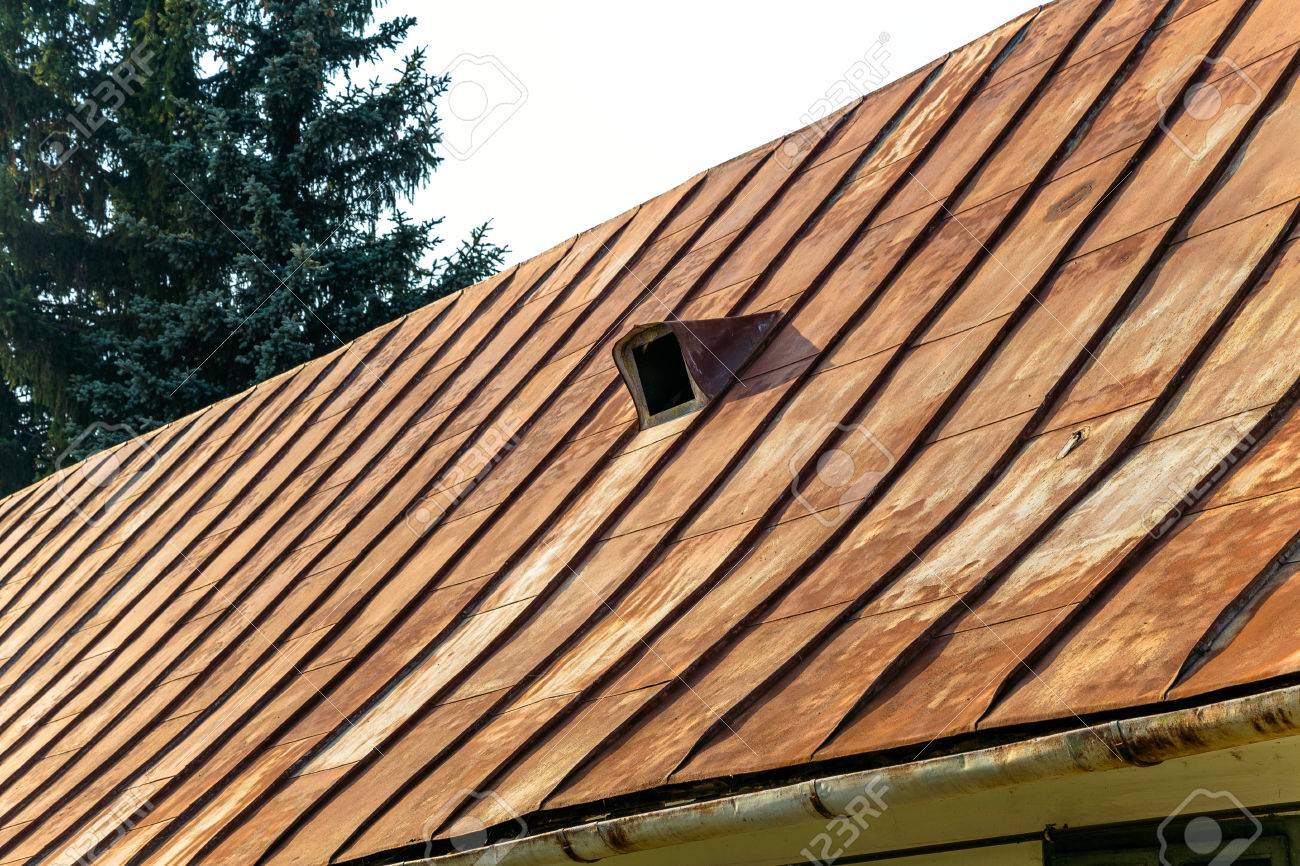 Old Rusty Metal Roof Stock Photo   23820482