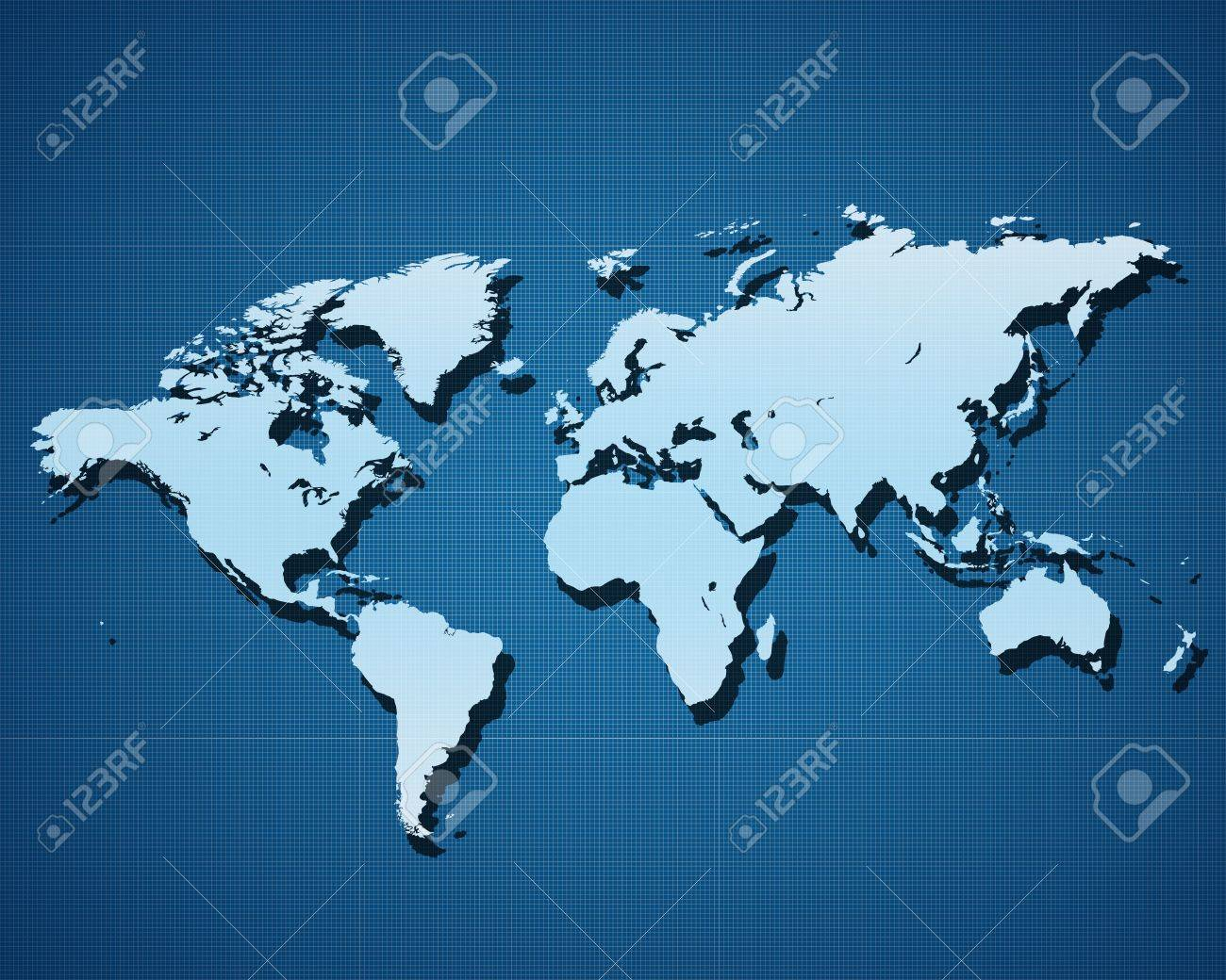 World map europe america africa on blue background stock photo stock photo world map europe america africa on blue background gumiabroncs Image collections