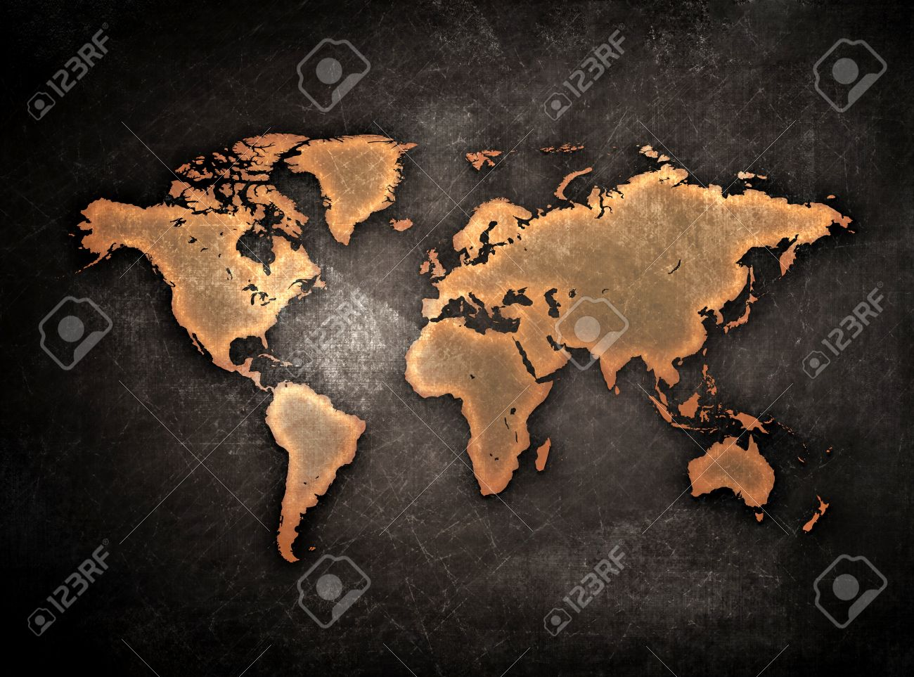 Vintage grunge world map globe isolated on black stock photo stock photo vintage grunge world map globe isolated on black gumiabroncs Images