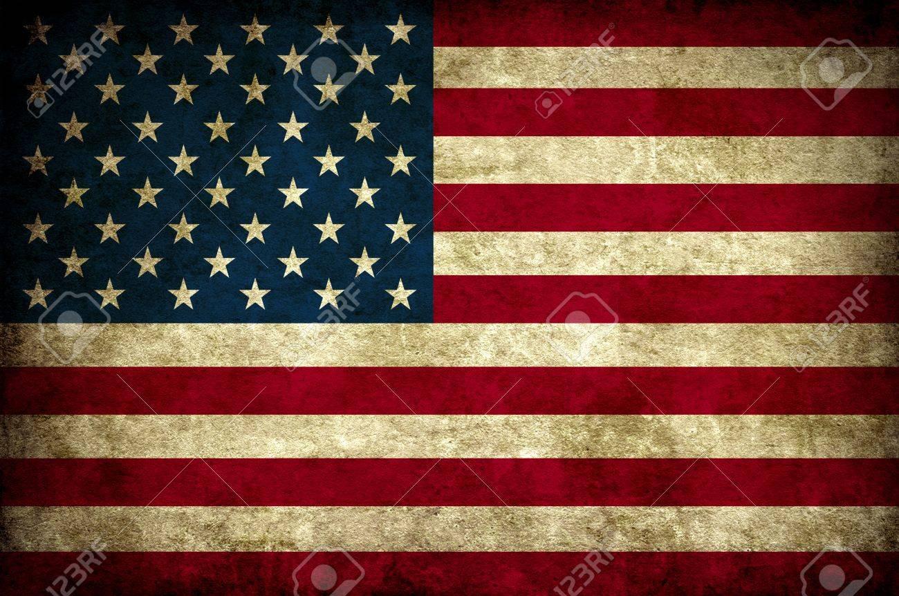古いビンテージ Usa アメリカ国旗壁紙 の写真素材 画像素材 Image