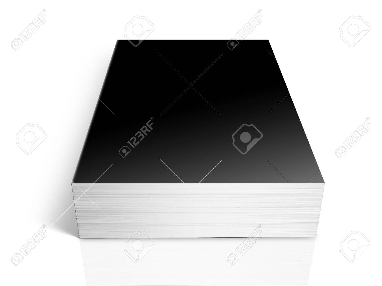 3D perspective black book whit shadows on white background Stock Photo - 18143060