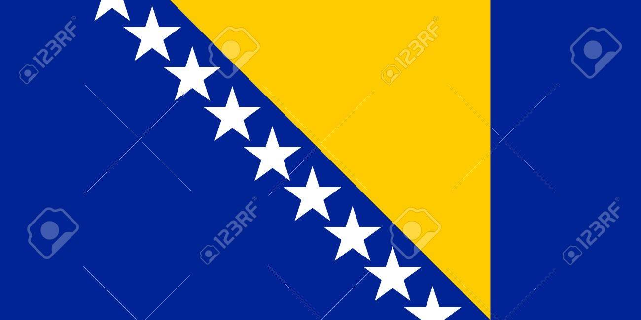 National Flag Of Bosnia And Herzegovina Country World Bosnia
