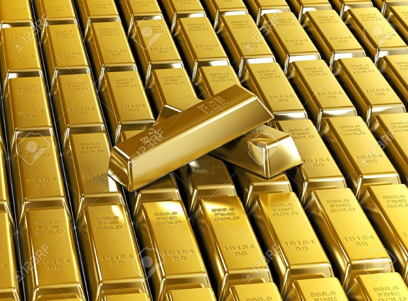 3 D の金の延べ棒の背景の壁紙 豪華な金の延べ棒金属 の写真素材