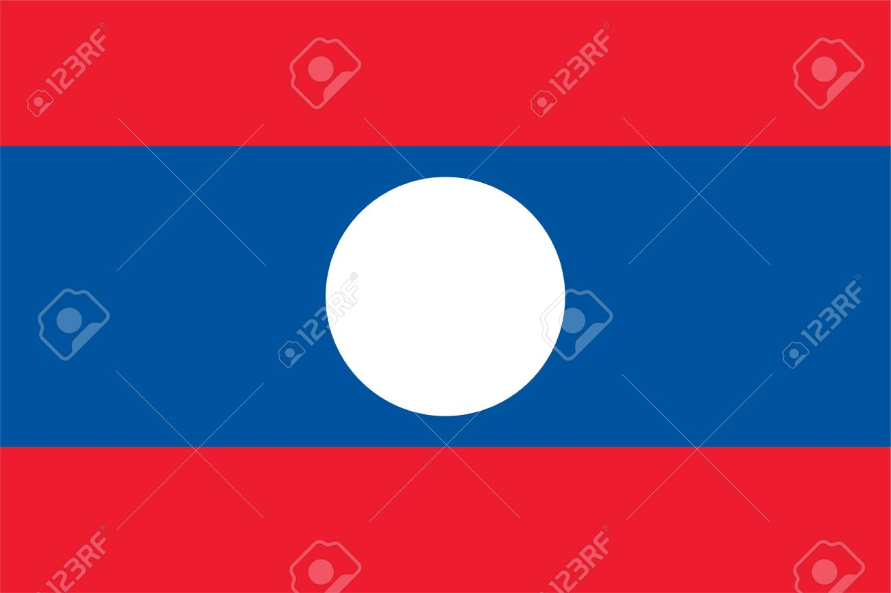 National Flag Of Laos Country World Laos Background Wallpaper