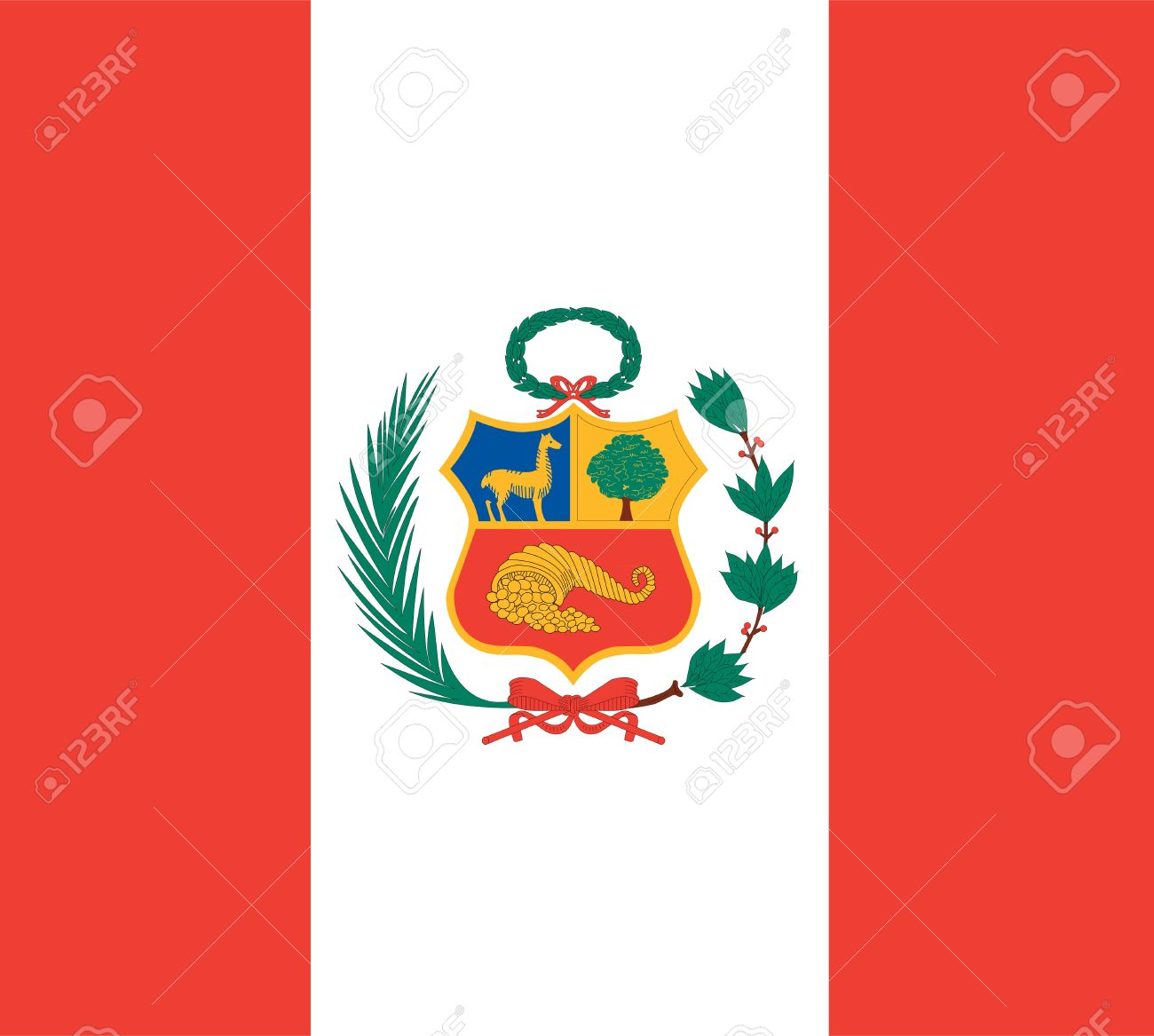 National Flag Of Peru Country World Background Wallpaper Stock Photo