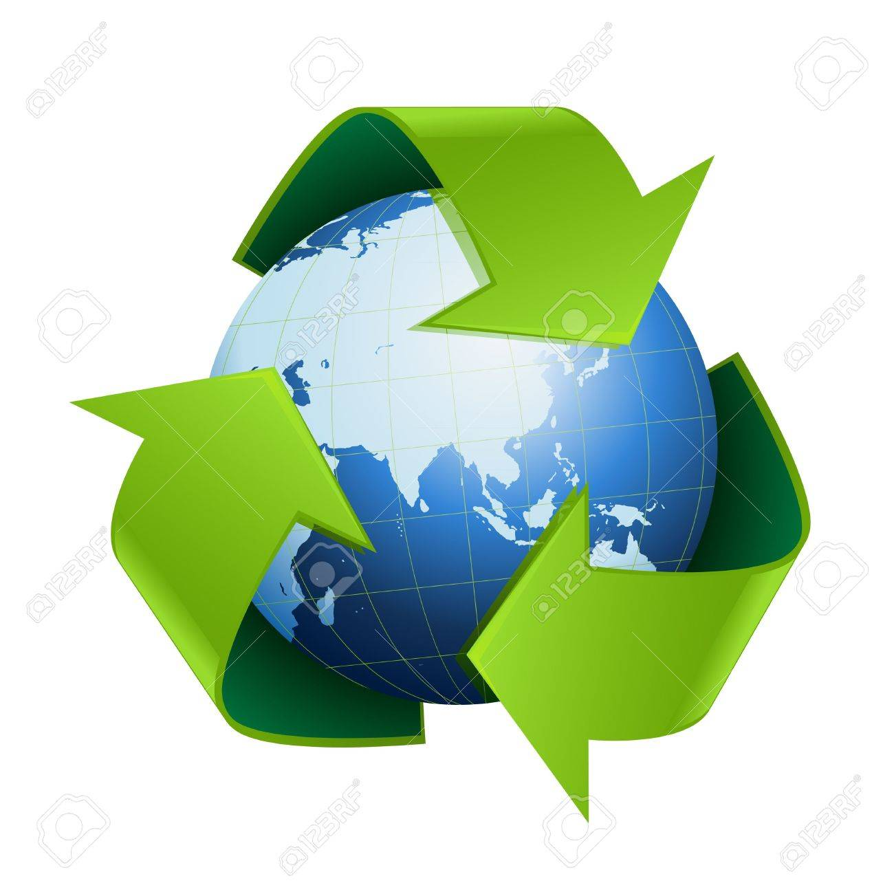 World globe with recycle symbol around on white background stock world globe with recycle symbol around on white background stock photo 18142572 biocorpaavc Gallery