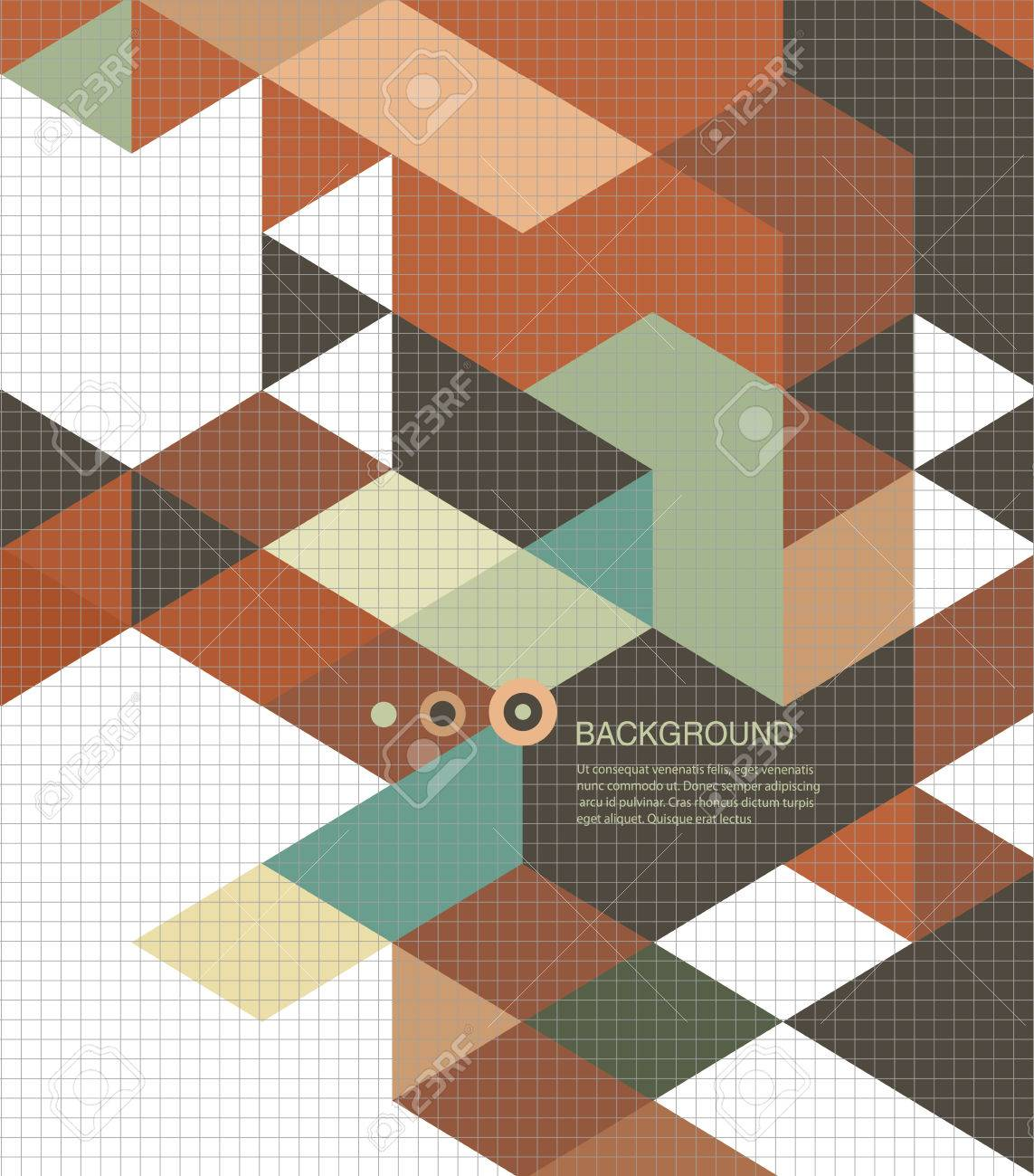 Abstract Book cover Background design/retro mosaic brochure Stock Vector - 23709076