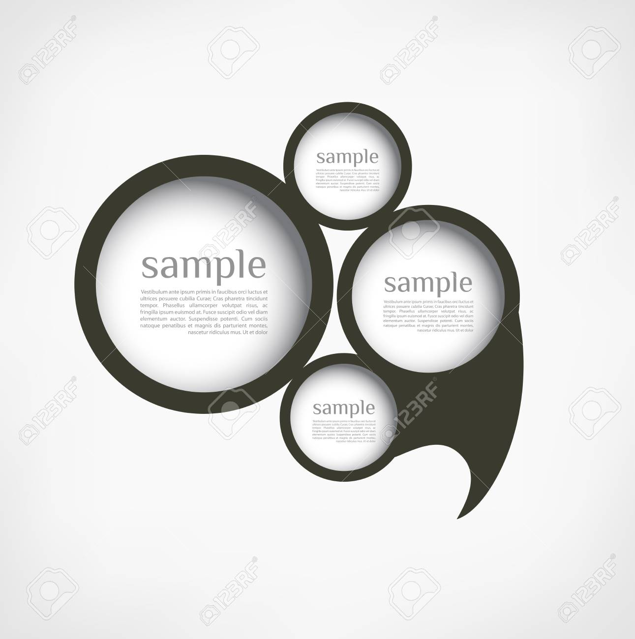 The new retro speech bubbles/signs collection. Vector Illustration Stock Vector - 23709100