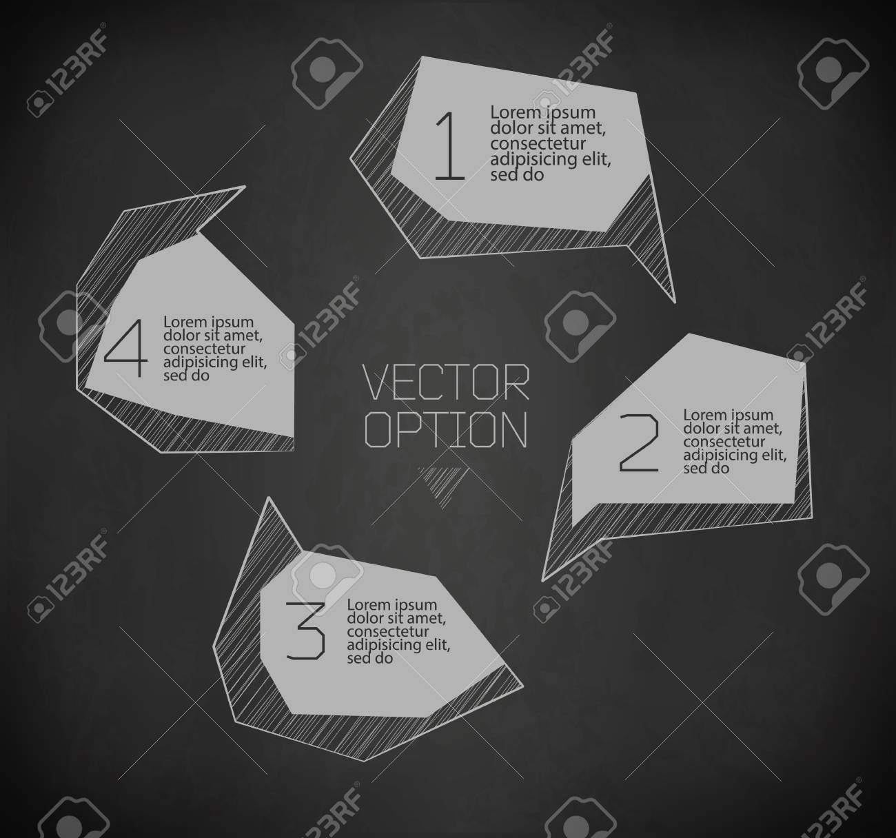 Design elements  for options of drawing with chalk on blackboard Stock Vector - 23748870