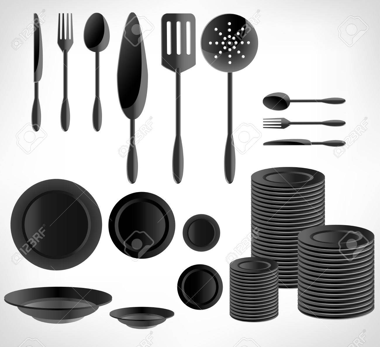 Kitchenware Set, White Ware Royalty Free Cliparts, Vectors, And ...