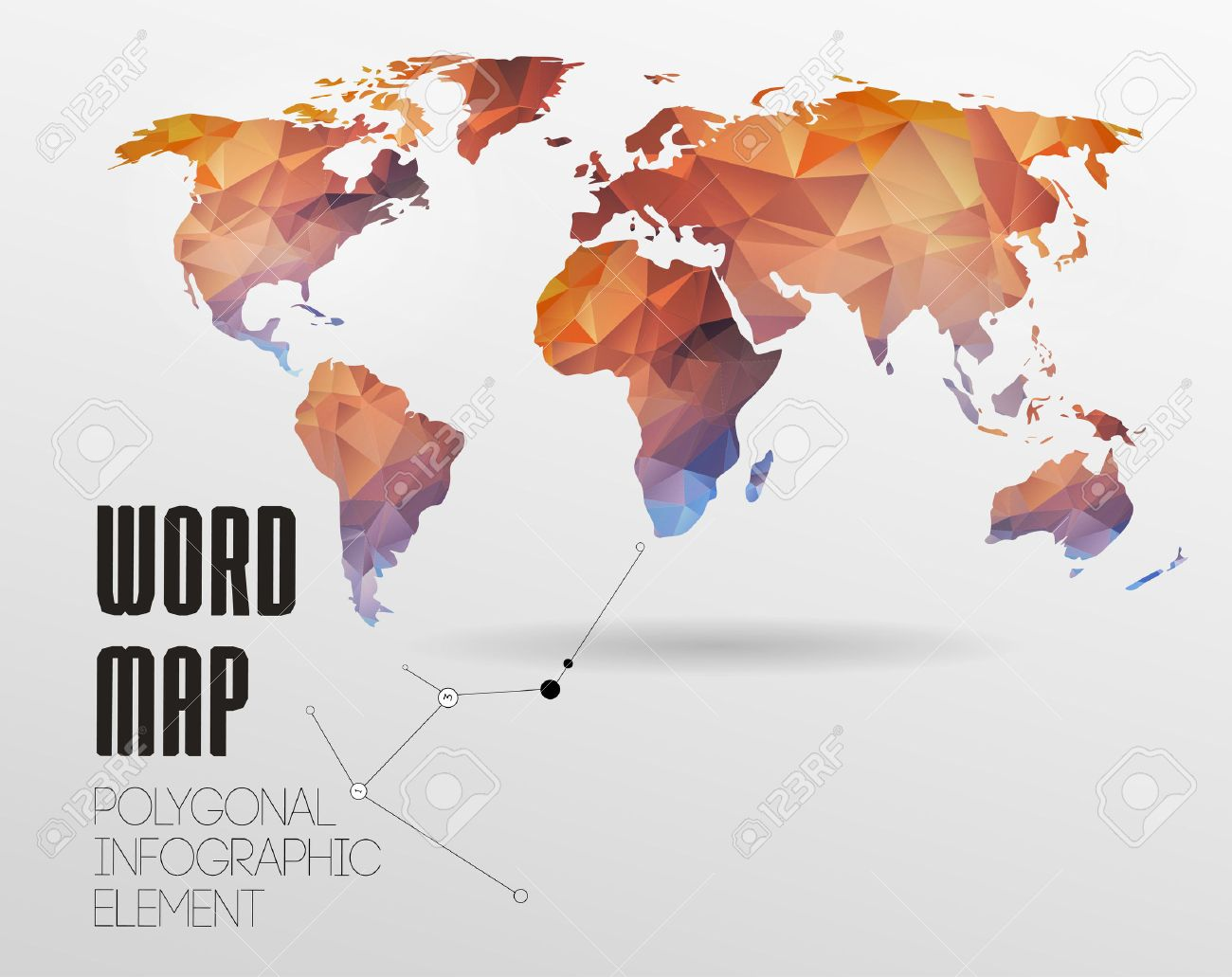 World map background in polygonal style vector background royalty vector world map background in polygonal style vector background gumiabroncs Images