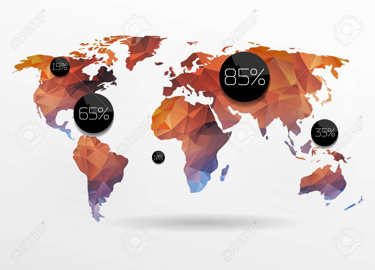 World map background in polygonal style vector background royalty vector world map background in polygonal style vector background gumiabroncs Choice Image