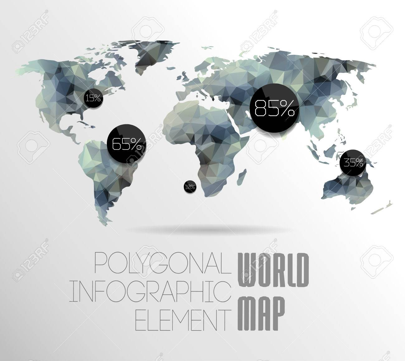Polygonal world map and information graphics world map and polygonal world map and information graphics world map and typography stock vector 24331334 gumiabroncs Image collections