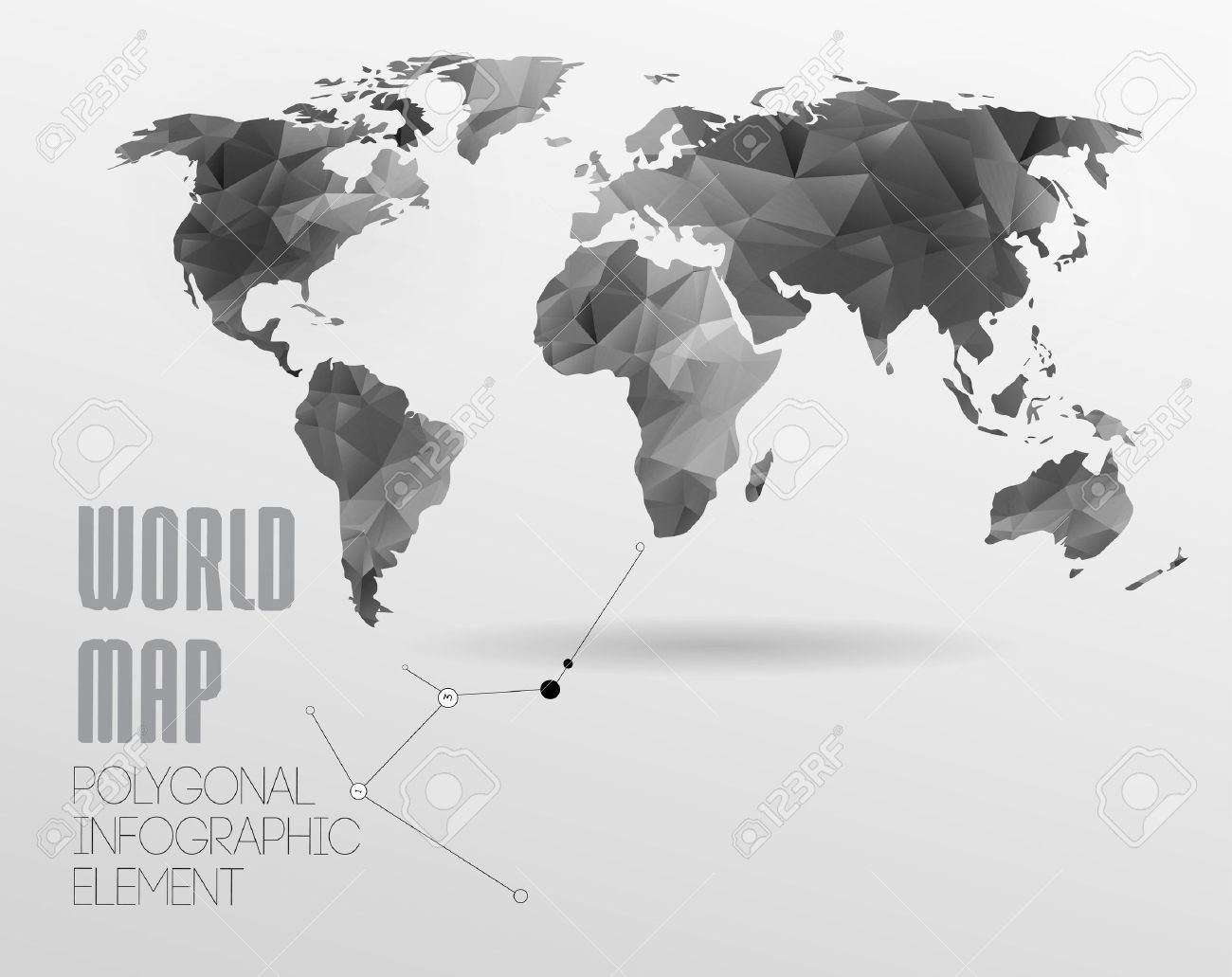 Polygonal world map and information graphics world map and polygonal world map and information graphics world map and typography stock vector 25401898 gumiabroncs Image collections