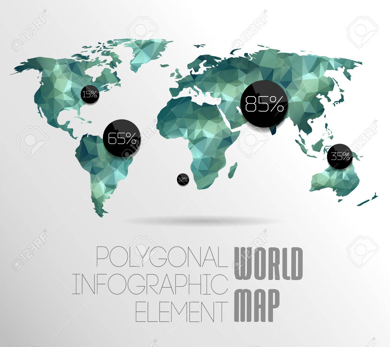 Polygonal world map and information graphics world map and polygonal world map and information graphics world map and typography stock vector 25827543 gumiabroncs Image collections