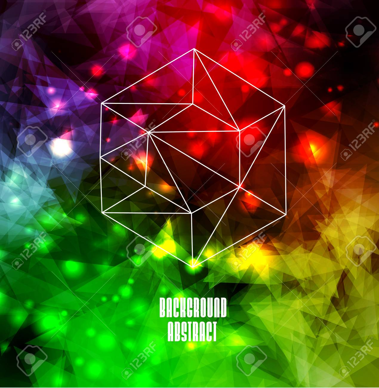 Hipster cosmic background, polygonal triangles and space background Stock Vector - 25828056