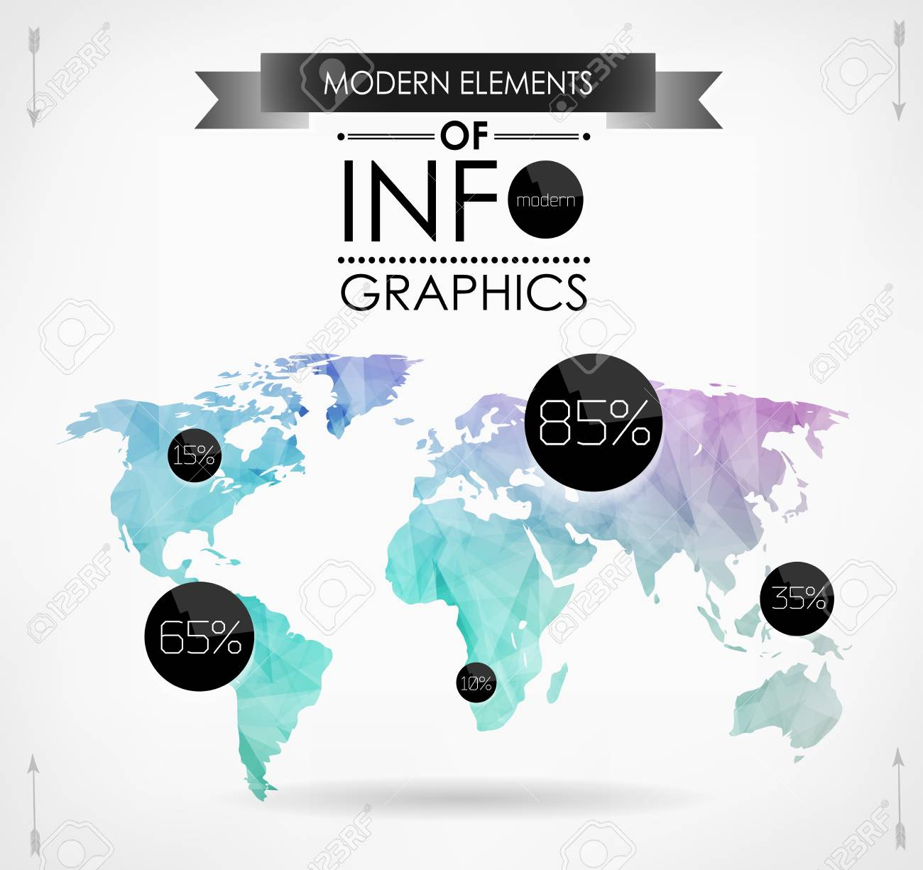 Polygonal world map card modern geometrical elements of info polygonal world map card modern geometrical elements of info graphics world map typography gumiabroncs Image collections