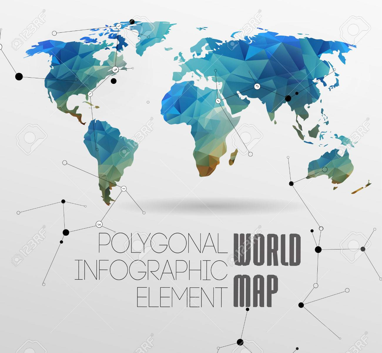 Polygonal world map and information graphics world map and polygonal world map and information graphics world map and typography stock vector 26247529 freerunsca Choice Image