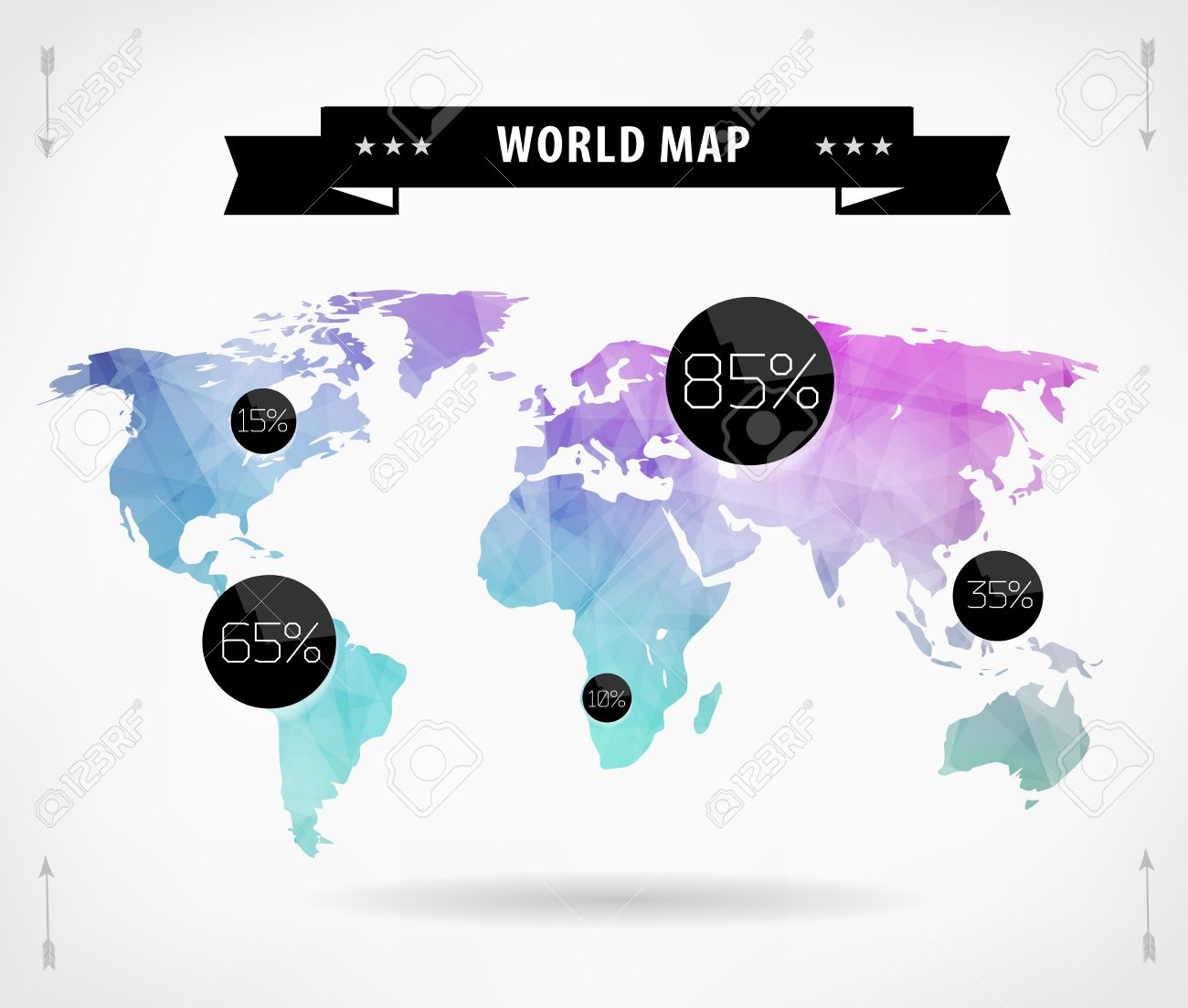 Polygonal world map card modern geometrical elements of info polygonal world map card modern geometrical elements of info graphics world map typography gumiabroncs Images