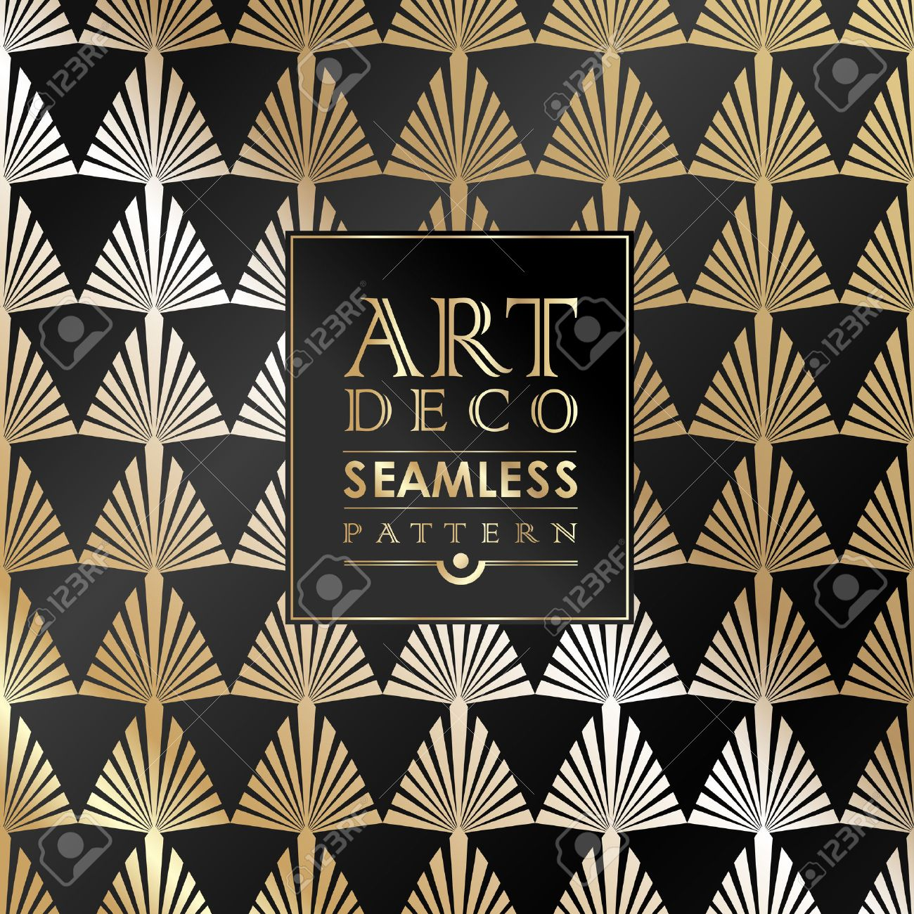 Art Deco Papier Peint art deco seamless vintage wallpaper pattern can be used for invitation,..
