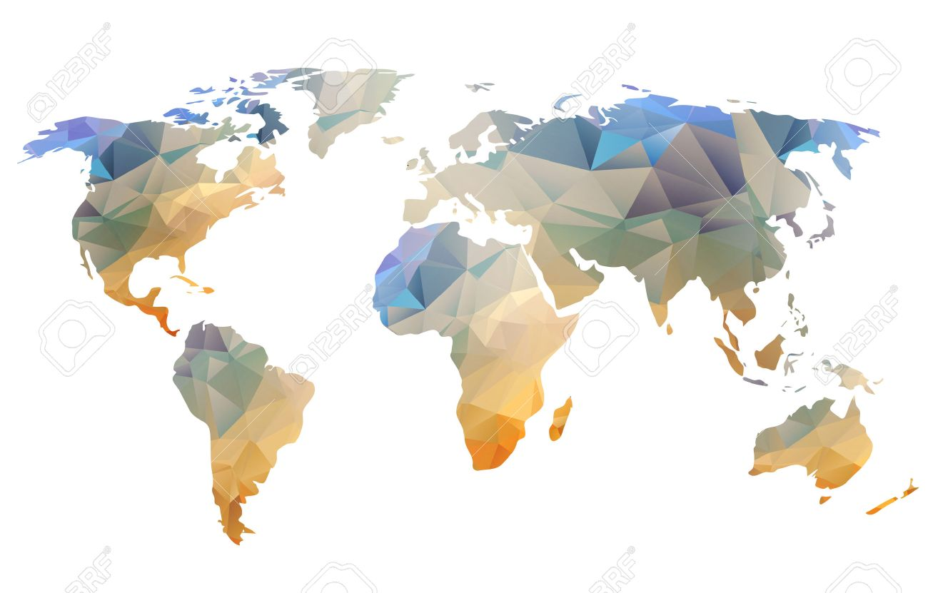 World map background in polygonal style can be used for website stock photo world map background in polygonal style can be used for website info graphics banner gumiabroncs Choice Image