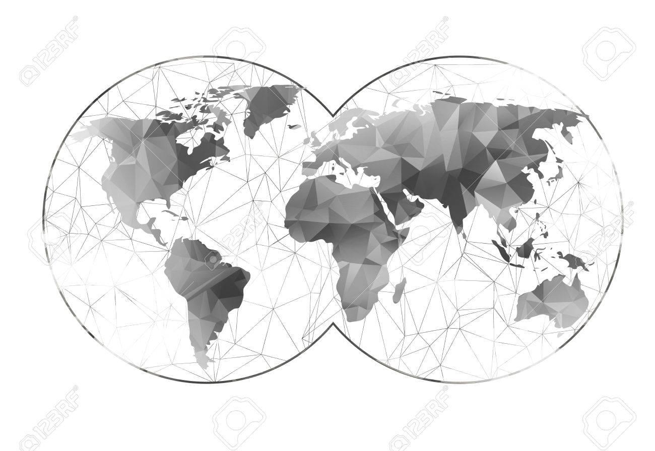 carte du monde graphique Carte Du Monde De Fond Dans Le Style Polygonal Peut être Utilisé