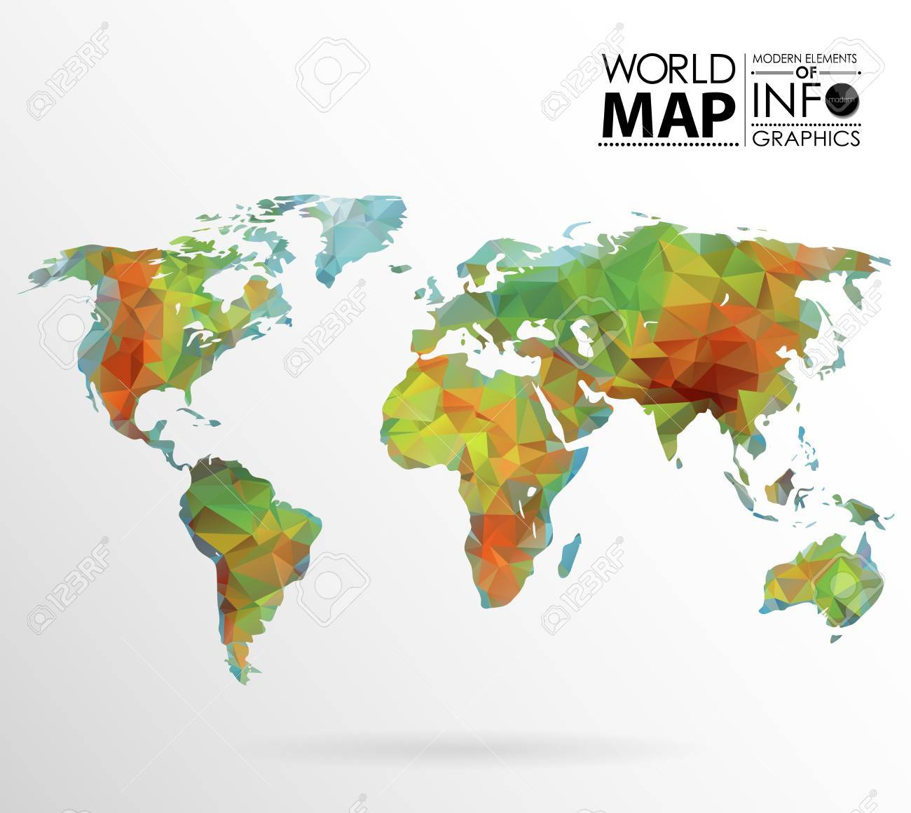 Physical world map background in polygonal style modern elements of physical world map background in polygonal style modern elements of info graphics world map gumiabroncs Gallery
