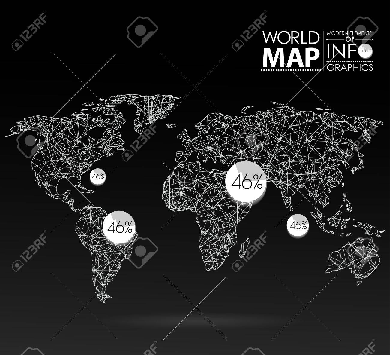 World map background in polygonal style modern elements of info vector world map background in polygonal style modern elements of info graphics world map gumiabroncs Images