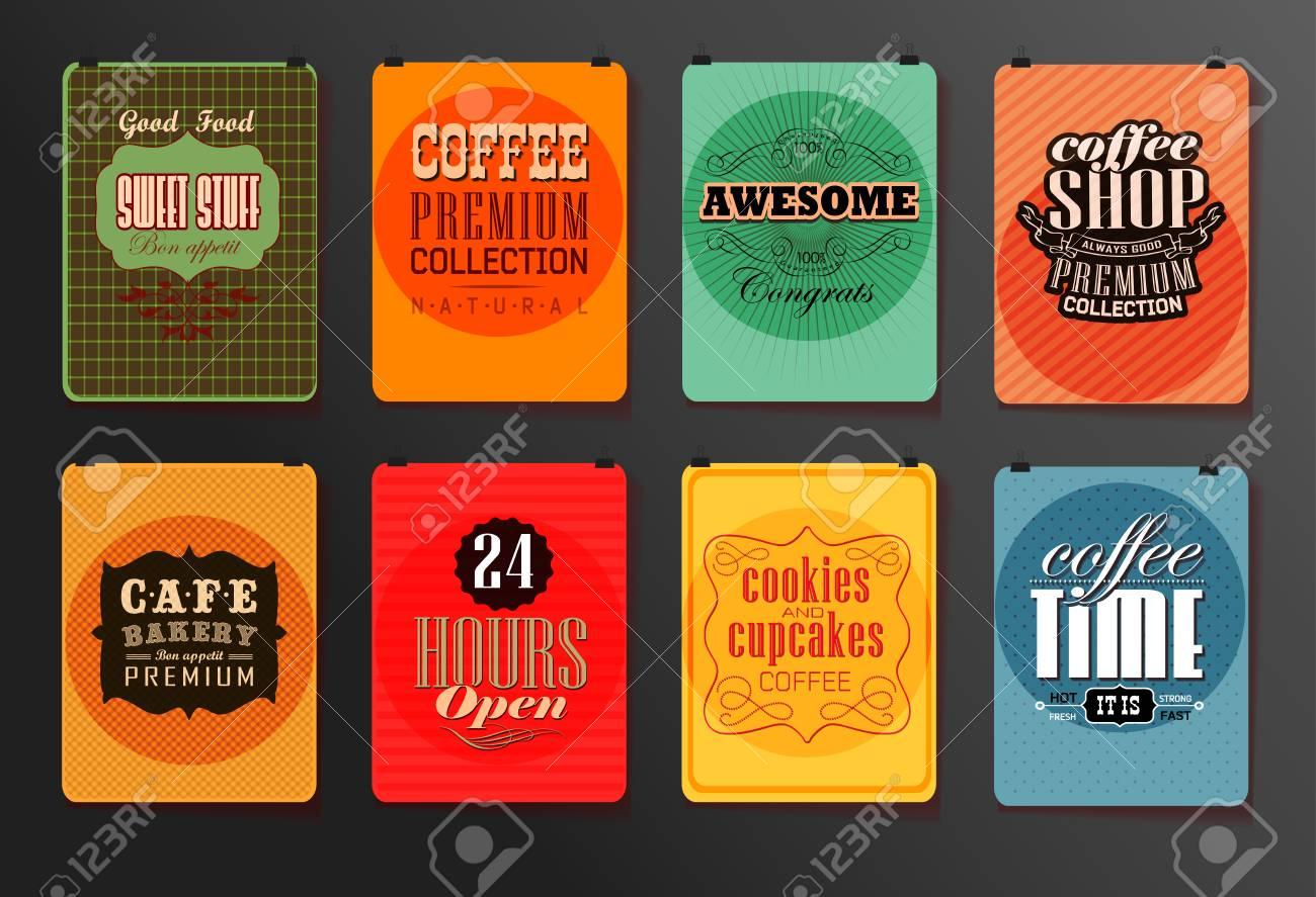 set of vintage poster flyer brochure design templates retro