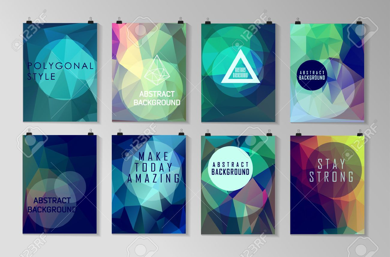 Set Of Poster Flyer Brochure Design Templates Abstract Modern - Modern brochure design templates