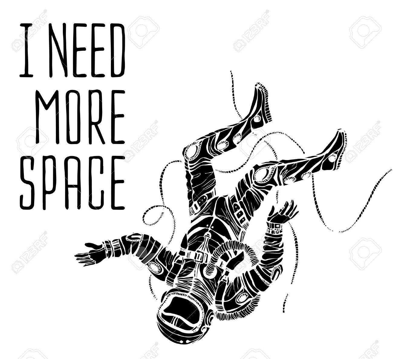 Space concept with astronaut and Quote Background, typography. Cosmic poster - 43047308