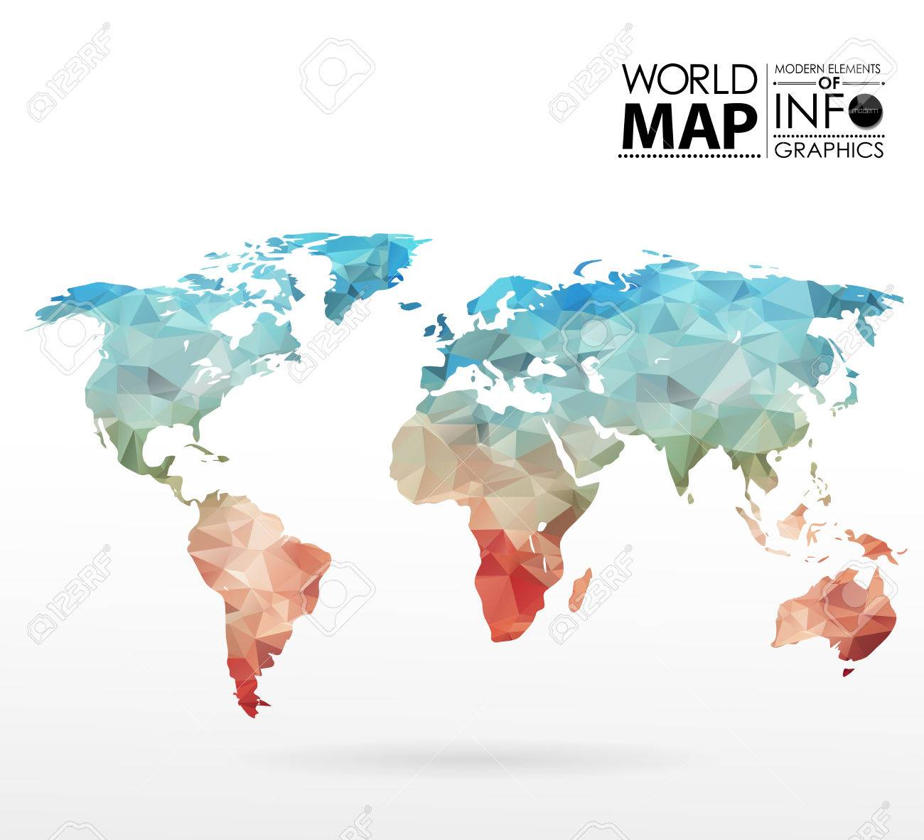 World map background in polygonal style modern elements of info vector world map background in polygonal style modern elements of info graphics world map gumiabroncs Gallery